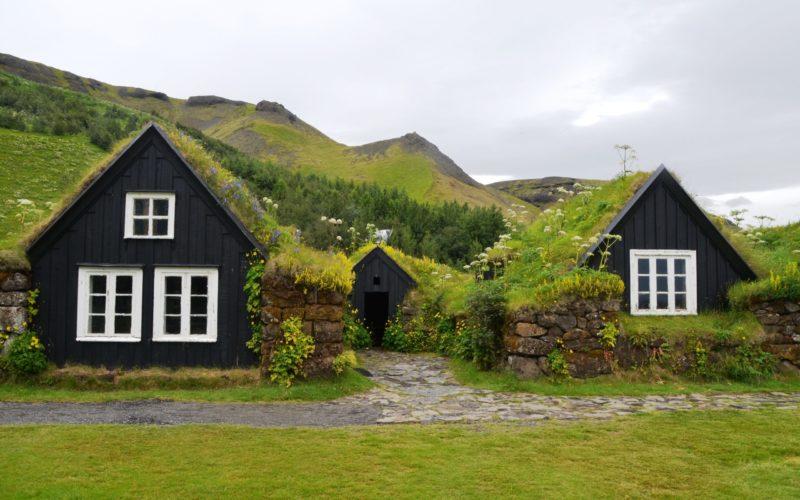 Græs huse